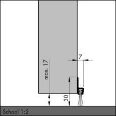 IBS 31, alu-werkblank, 300 cm, VE: 1
