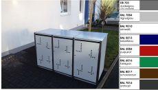 3er Müllbox 240 Ltr  Klappdach MB-240-3-D Version II
