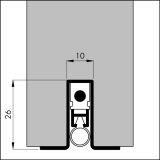 ELLEN-MATIC OMEGA alu werkblank, 63,0 cm, VE: 1