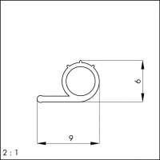 Silikondichtung 101 (z. Antackern)