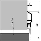 Türbodendichtung ADS KLASSIK alu-werkblank, 100 cm, VE: 1