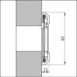 Briefkastenschlitz/ Briefkasteneinwurf Kunststoff braun