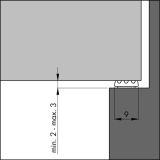 Dichtungsprofil Ellenflex K-Profil KLEINER SPALT weiß 7,5 m VE: 1 Stück