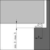 Dichtungsprofil Ellenflex P-Profil MITTELGR. SPALT weiß 7,5 m VE: 1 Stück