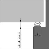 Dichtungsprofil Ellenflex D-Profil GROSSER SPALT weiß 7,5 m, VE: 1 Stück