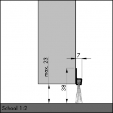 IBS 39, alu-werkblank, 250 cm, VE: 1