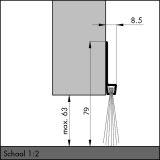 IBS 80, alu-werkblank, 250 cm, VE: 1