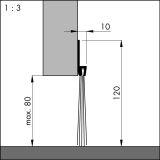 IBS POG 80, alu-werkblank, 200 cm, VE: 1