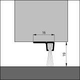 IBS 90-18, alu-werkblank, 100 cm, VE: 1