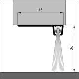 IBS 90-36, alu-werkblank, 100 cm, VE: 1