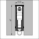 ELLEN-MATIC SUPER alu werkblank, 93 cm, VE: 1