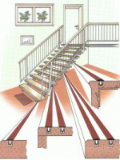 Treppenprofile (Gleitschutzprofile) L2976, schwarz 10 m, VE 1 Karton