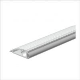 AKW-Türanschlagschiene Aluminium als Bodenschwelle mit Hart/Weich PVC Lippe
