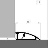 AKW Türanschlagschiene silber eloxiert, 120 cm, VE 1