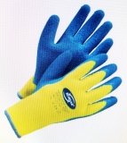 KORSAR Acryl-Winterhandschuh Kori-Grip Winter Proflex; Latex beschichtet; Neongelb/blau; Größe10; 1 Paar
