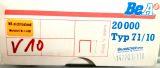 Heftklammer BeA 71 / 10  RF rostfrei 20000 Stück/ Pack*