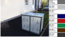 2er Müllbox 240 Ltr  Klappdach MB-240-2-D Version II