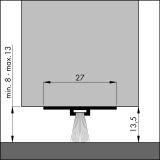Türbodendichtung DBS UNSICHTBAR alu-werkblank, 100 cm, VE: 1