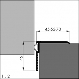 Renovierungsdichtung ARP 45, alu-silber-elox. 180 cm