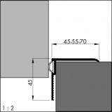Renovierungsdichtung ARP 55, alu-silber-elox. 90 cm